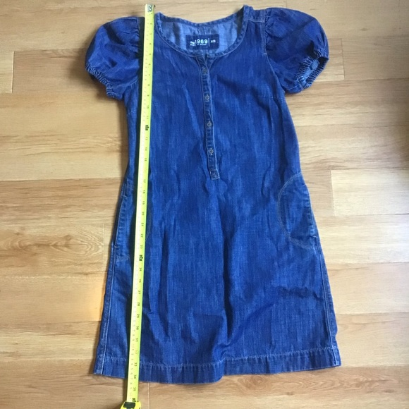 GAP Dresses & Skirts - GAP 1969 Blue Denim Dress Sz XS